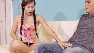 Annika Eve Consoles Her Step Brother - Teen Tugs